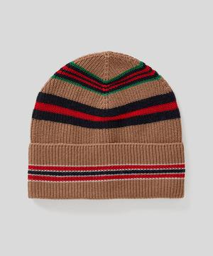 マルチボーダーリブ編みニットワッチキャップ・ニット帽