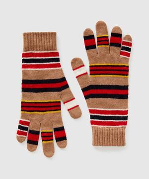 ラナウールストレッチニットマルチボーダーグローブ・手袋