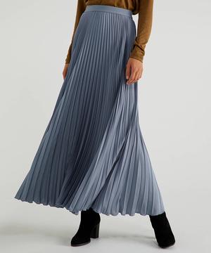 プリーツマキシロングスカート