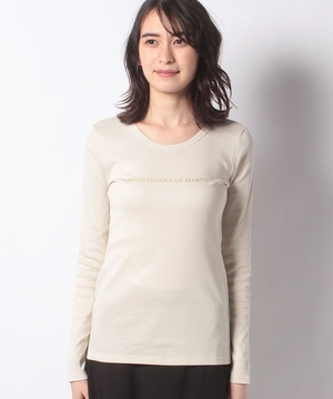 ブランドロゴコンパクトロングTシャツ・カットソー