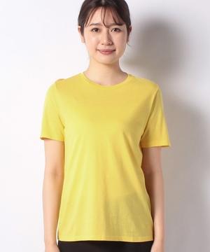 モダールクルーネック裾ロゴ刺繍Tシャツ・カットソー