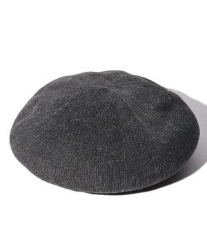 リネン混サマーベレー帽