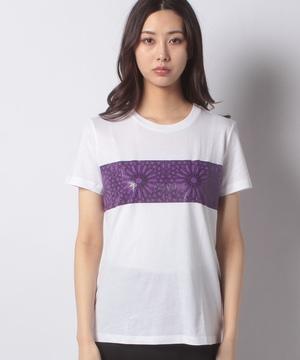 コットンモダールインドモチーフラウンドネック半袖Tシャツ・カットソー