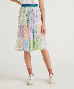 【PEANUTSコラボ】スヌーピーひざ丈スカート