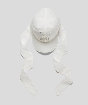 コットンネックリボン付きキャップ・帽子