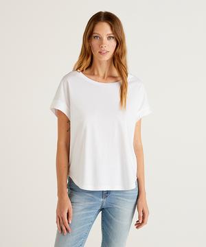 フレンチスリーブ無地半袖Tシャツ・カットソー