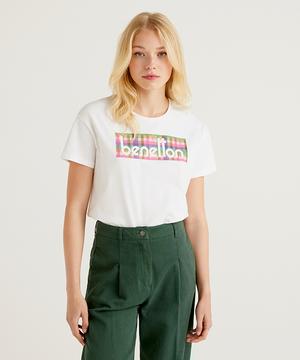 コットンベネトンロゴ半袖Tシャツ・カットソー