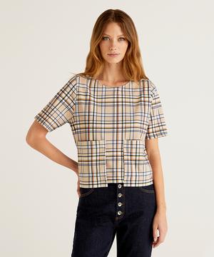 ポケット付き総柄半袖Tシャツ・カットソー