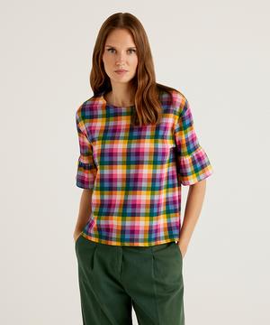 フリルスリーブ柄半袖Tシャツ・カットソー