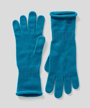 ウールミニロゴニットグローブ・手袋