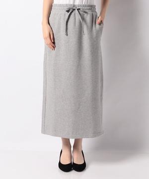 ミモレ丈ドロストスウェットタイトスカート