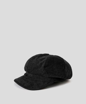 コーデュロイキャスケット帽