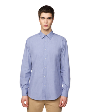 シャンブレードレスシャツ