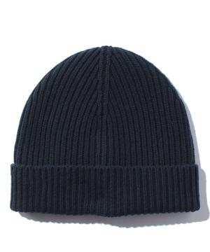 ラムズウールリブニット帽・ニットキャップ