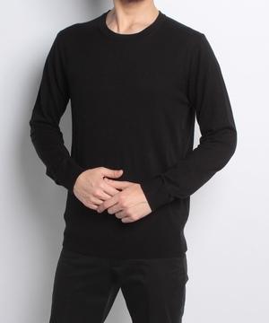 ビスコース混クルーネックニット・セーター