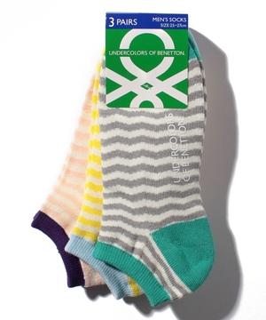 メンズ・波ボーダー柄Sソックス・靴下
