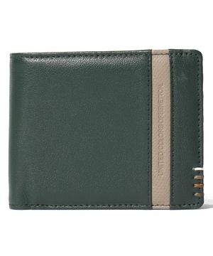 ベネトン本革ライン札入れ・二つ折り財布