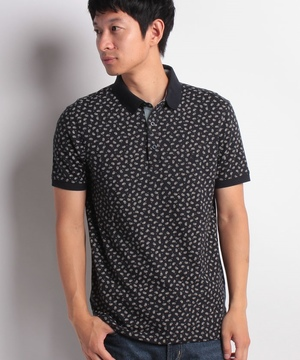 総柄半袖ポロシャツ