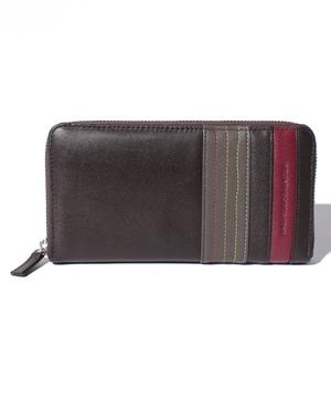 カラーラインラウンド型束入れ長財布