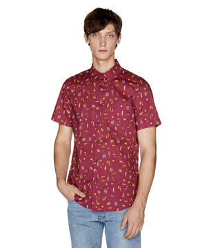 総柄半袖シャツ1