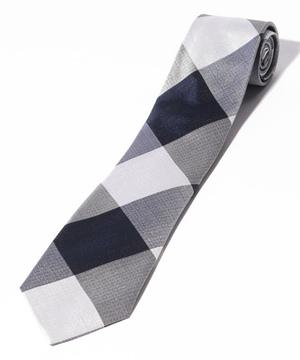 ベネトンビッグチェック柄ネクタイ(シルク製)