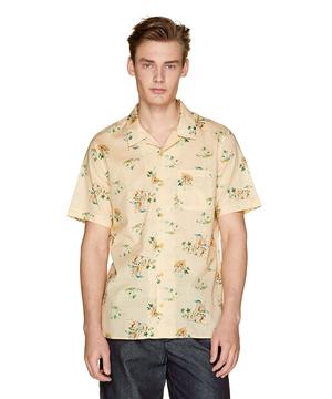 総柄半袖オープンカラーシャツ