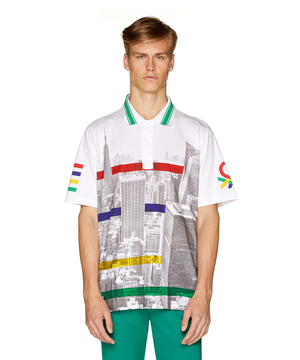 フォトプリント半袖ポロシャツ