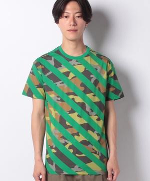 柄ライン半袖Tシャツ・カットソー