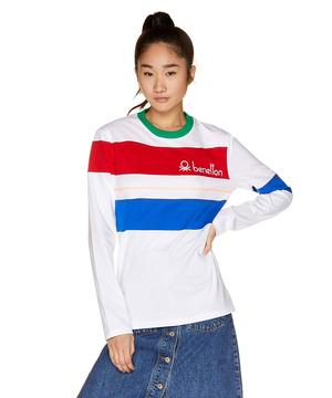 カラーブロックロングスリーブTシャツ・カットソーJCC(ユニセックス)