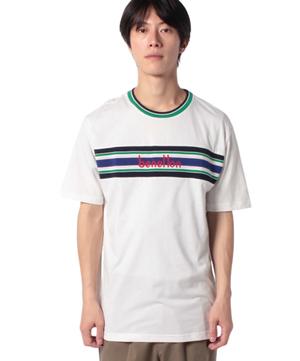 ニット切り替えロゴTシャツ・カットソー