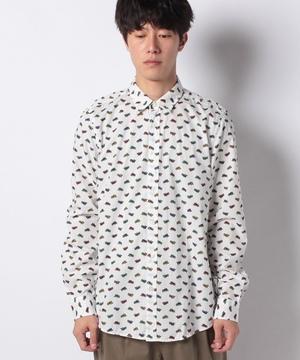 総柄コットンシャツ
