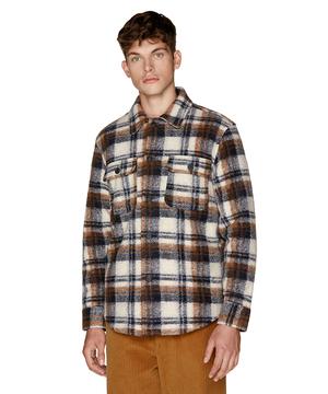 ウールチェックフランネルシャツジャケット