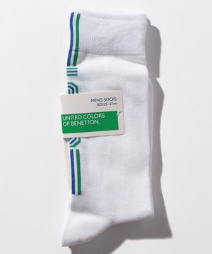 メンズバックラインロゴロングソックス・靴下
