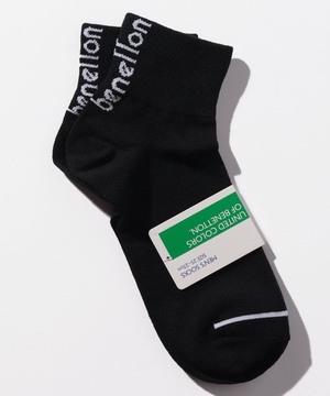 メンズバックカラーロゴSソックス・靴下