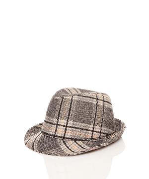 グレンチェックハット・帽子