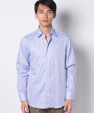 ドビー織り柄長袖レギュラーカラーシャツ