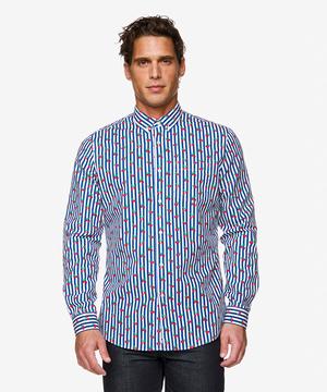 フルーツ総柄長袖シャツ