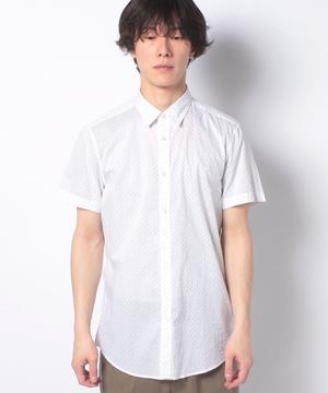 コットン総柄半袖シャツ