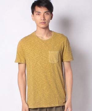 細ボーダーポケットTシャツ
