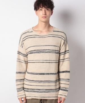 ミックスリネンボーダーニット・セーター