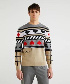 トランプマーク柄ニット・セーター