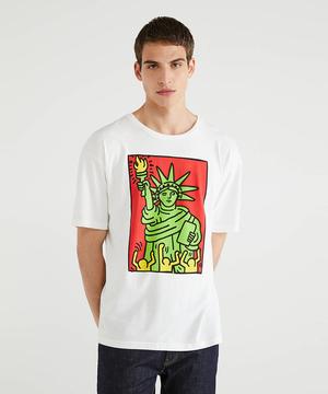 【キース・ヘリングコラボ】プリント半袖Tシャツ・カットソー
