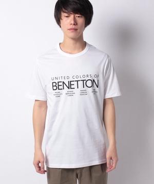 ベネトンロゴプリントTシャツ・カットソー