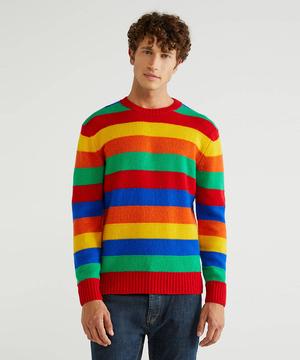 バージンウールクルーネックニット・セーター