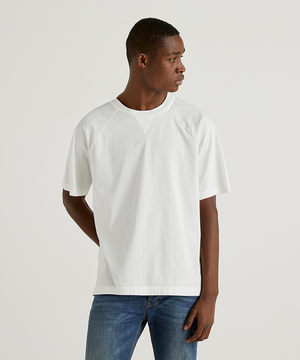 コットンガゼット付きラグランスリーブTシャツ・カットソー