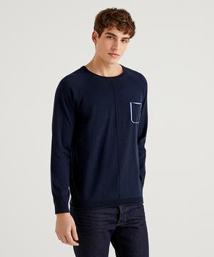 胸ポケットニット・セーター