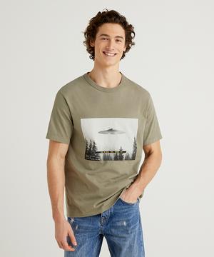 UFOプリントTシャツ・カットソー