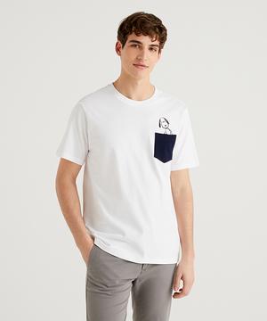 【PEANUTSコラボ】スヌーピーポケット付きTシャツ・カットソー