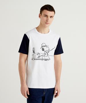 【PEANUTSコラボ】スヌーピー&ウッドストックTシャツ・カットソー