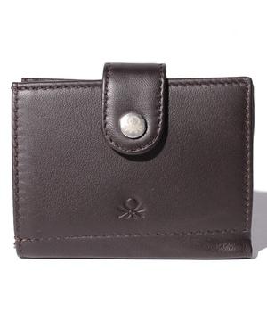 ベルトボタン2つ折りレザーウォレット・財布